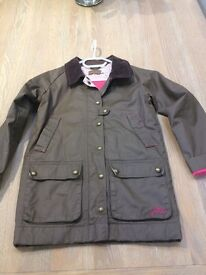Joules Girls Wax Jacket - age 9 - 10. As New!!