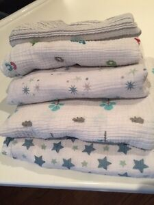 Baby blankets, crib bumper and car seat snugly