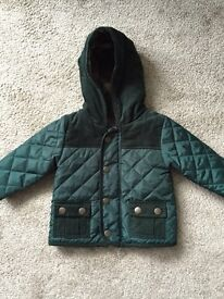 Boy's 3-6 month M&S quilted coat