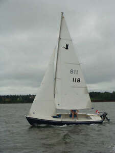 Cygnus 20 Centreboard Sailboat with Bolt-on Cuddy Cabin