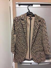 Leopard print blazer - size 8