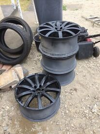 19 inch. Khan alloys. Only two tyres. £200.