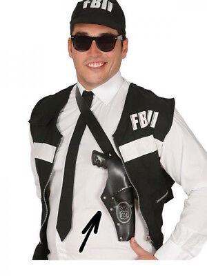 Leather Look Gun Shoulder Holster Fancy Dress Up - Fancy Dress Gun Holster