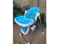 Blue high chair