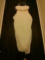 Brand New White Gown Cleopatra-Greek Style- Gold beaded band