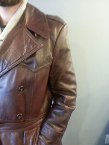 CLEARING - Dress Leather Overcoat.