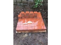 Reclaimed 4x4 inch, VICTORIAN RED QUARRY TILES