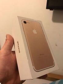 iPhone 7 gold colour and 128gb with o2
