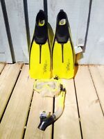 Used once very nice Snorkle Set