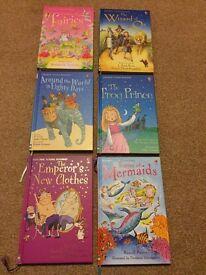 Six Usborne books. All like new