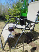 Garden wine and glass holders