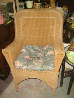 "Vintage ""Wicker Style"" Rope Chair"