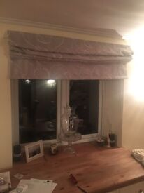 Luxury grey roman blinds