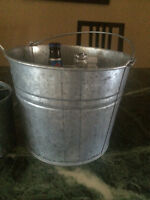 Metal Pot for potting flowers or Cold Drink on the Patio