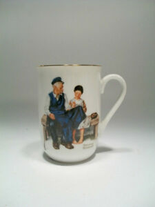 1982 The Lighthouse Keeper's Daughter Norman Rockwell Museum Cup