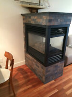 Gas Fireplace with Granite Top
