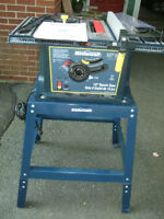 """""""MASTERCRAFT"""" 10"""" BENCH / TABLE SAW WITH STAND"""