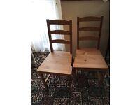 IKEA table & 2 chairs