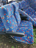 Bus Seats. Include Arm rests and Recline