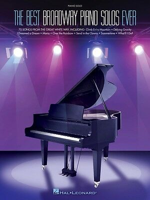 The Best Broadway Piano Solos Ever Sheet Music Piano Solo SongBook NEW 000119631 on Rummage