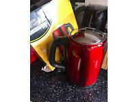 Red Bullet Kettle Metallic Red Brand New Boxed