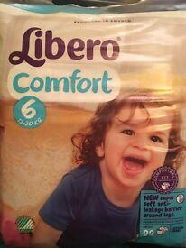 Libero Comfort Size 6 Nappies x22 x22 =484 nappies