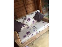 Cane conservatory sofa & chair