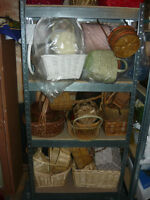 Several Wicker baskets for sale