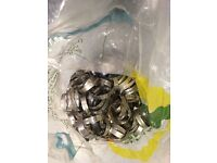 Job lot stainless hose clips