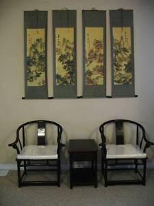 4pcs Chinese Landscape  Scrolls
