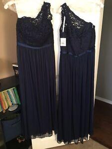 Navy bridesmaid dresses (2) $250.00 Regina Regina Area image 2