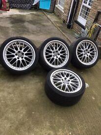 "19"" audi speedoine alloys with tyres deep dish upgrade"