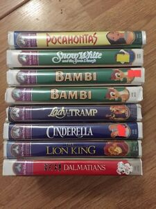 VHS Disney and other children's titles