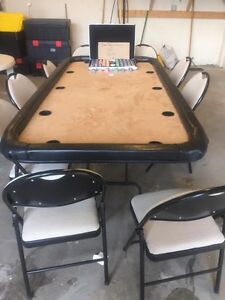 Custom 10 Man Poker Table with Chip's & Chairs