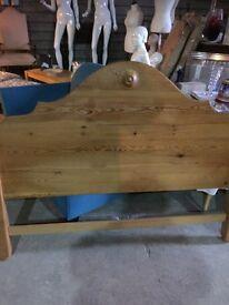 Double solid pine headboard