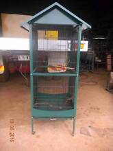 Large metal bird cage on wheels Golden Beach Caloundra Area Preview