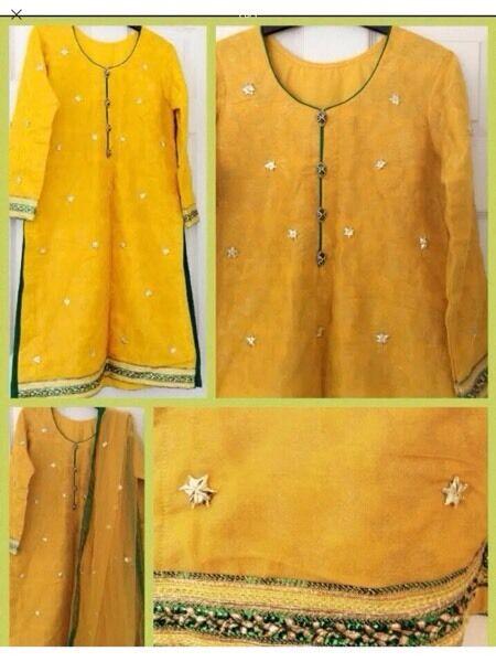 Mehndi salwar kameez/wedding dress