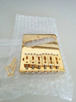 GotohTelecaster bridge, gold, left hand
