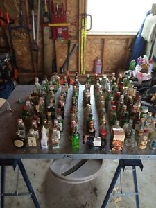 Miniature liquor bottle collection