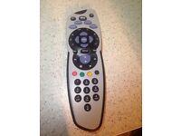 Sky + tv remote control