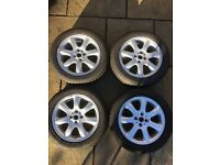 "Genuine Mini 16"" Bridge Spoke Alloy Wheel and Bridgestone Winter Tyre Full Set"