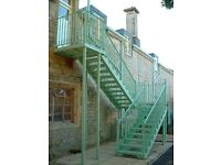 Heavy Duty Commercial External Fire Escape Staircase / Free Delivery