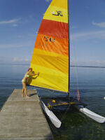 hobie cat with beach buggy and highway trailer all parts