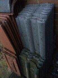 Spare roof tiles 24 grey 29 red 2 ridge job lot