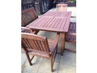 Patio set / outdoor table & chairs (can deliver local)