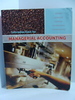 Introduction to Managerial Accounting 3rd CDN Ed.