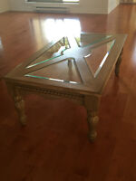 SET of COFFEE Tables:1+2! Good condition! REAL WOOD!