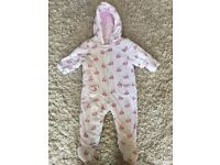 Mothercare girls snow suit 6-9months floral