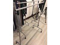 4 x clothes rails on wheels