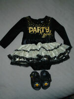 Baby Girl Dress + shoes ALL 10 $  Baby Glam , Party girl